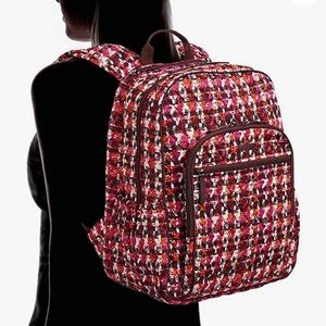NWT Vera Bradley Campus Tech Houndstooth Backpack